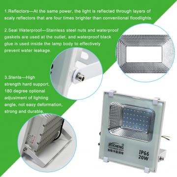 LED FLOODLIGHT 20W170-265V OUTDOOR LED FLOODLIGHT WATERPROOF IP66 GARDEN STREET SPOTLIGHT LED PROJECTOR LAMP FOR GARDEN CAR PARK